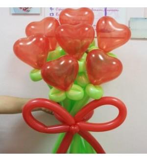 """Букет из шаров """"Красное сердце"""""""