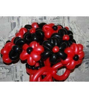 """Букет из шаров """"Красное и черное"""""""