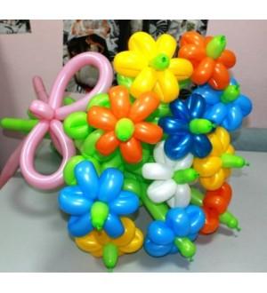 """Букет из шаров """"Разноцветные ромашки"""""""