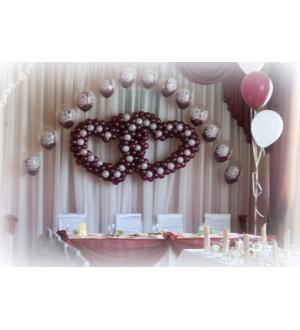 Шоколадное оформление свадебного зала
