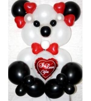 """Композиция из шаров """"Влюбленный Панда"""""""