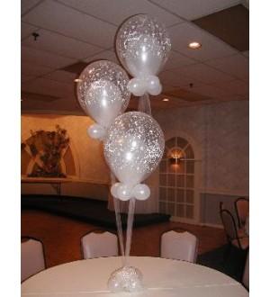 """Композиция  """"Белые розы"""" на стол гостей"""