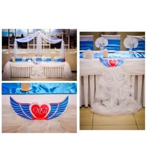 Оформление свадьбы в авиастиле