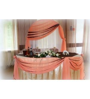 Оформление свадебного зала в коричневых тонах