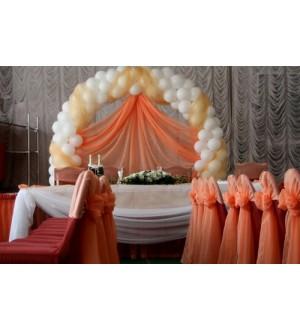 Оформление свадебного зала персикого цвета