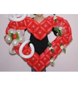 Сердце плетеное с декором