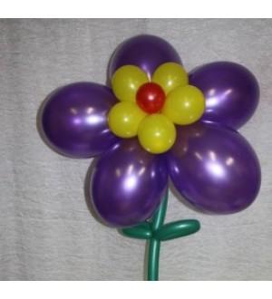 Цветочек из шаров с гелием