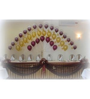 Арка свадебная из шаров с гелием тройная