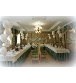 Оформление  свадебного зала в зеленом цвете